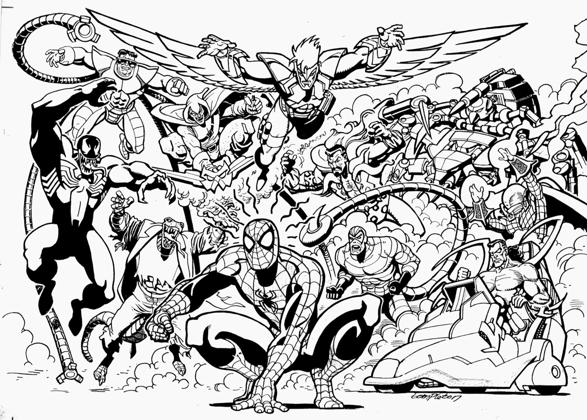 supervillains coloring pages to print - photo#20