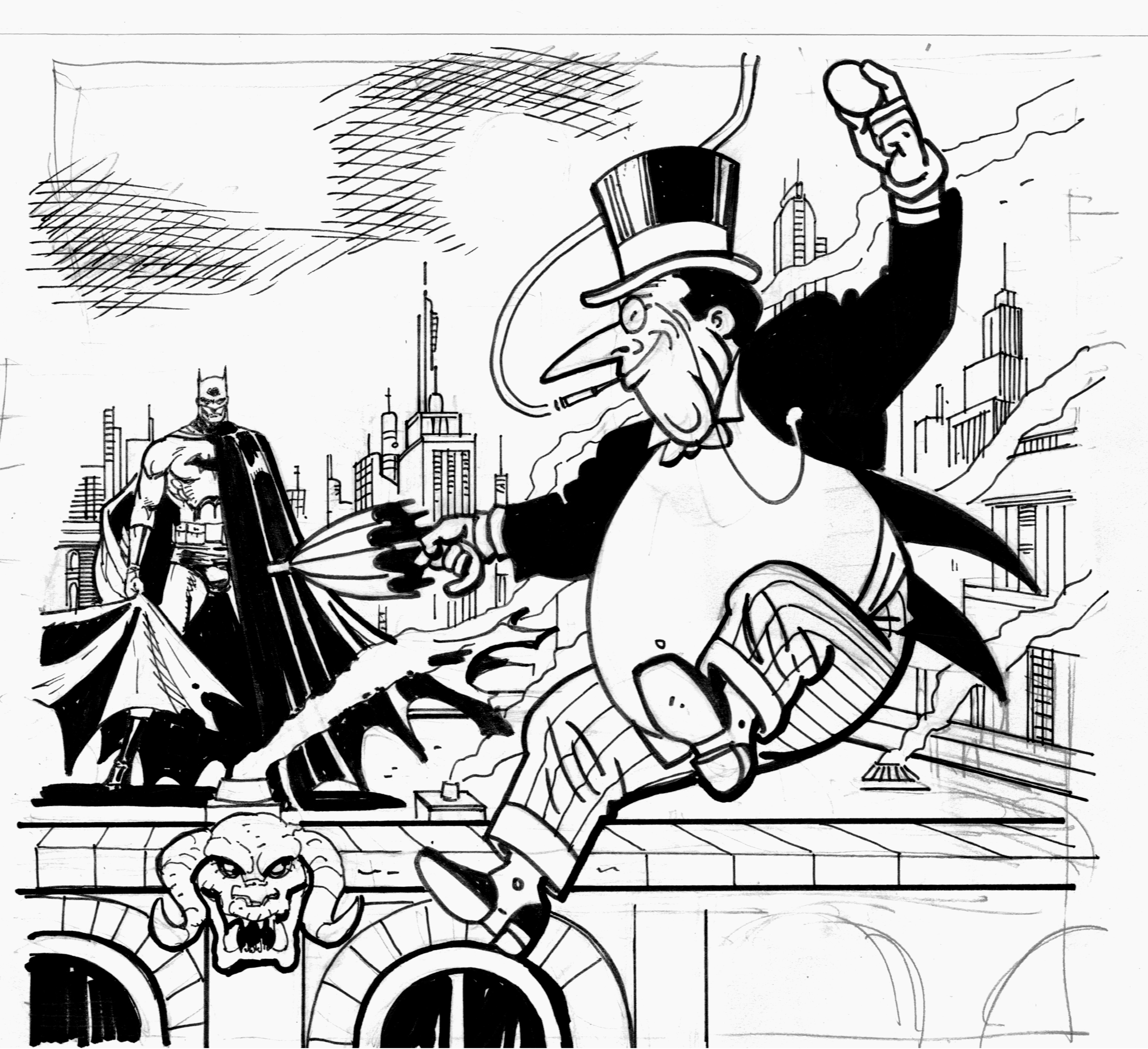 Penguin Justice Coloring Pages