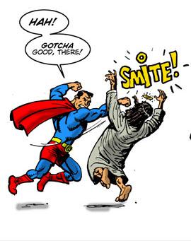 Superman vs. Jesus vs. Hallowe'en Toons! Yay!