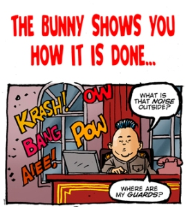 The Bunny Takes On North Korea After the Hacking Scandal