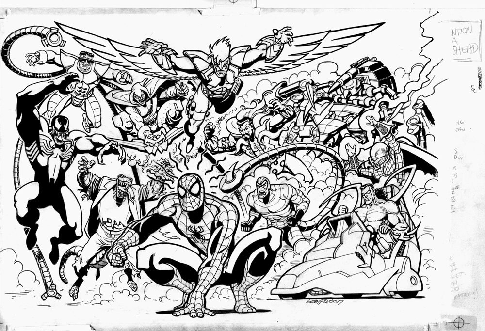 Spider Man Unlimited Coloring Pages. Over  Unseen Spider Man and my LARGEST DRAWING EVER Ty Templeton s