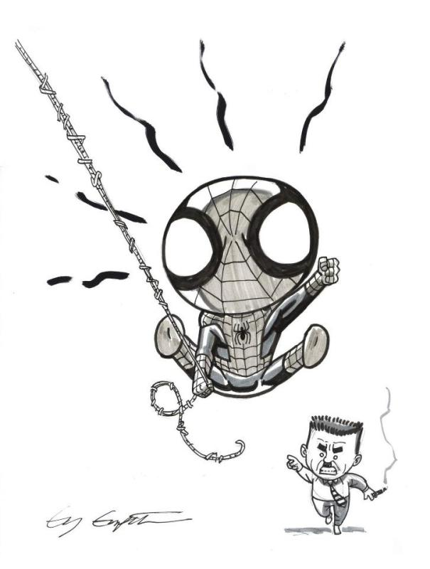 L'il Spidey and L'il JJ
