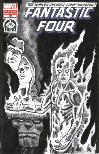 This sketchbook was done for The Hero Initiative, for auction.