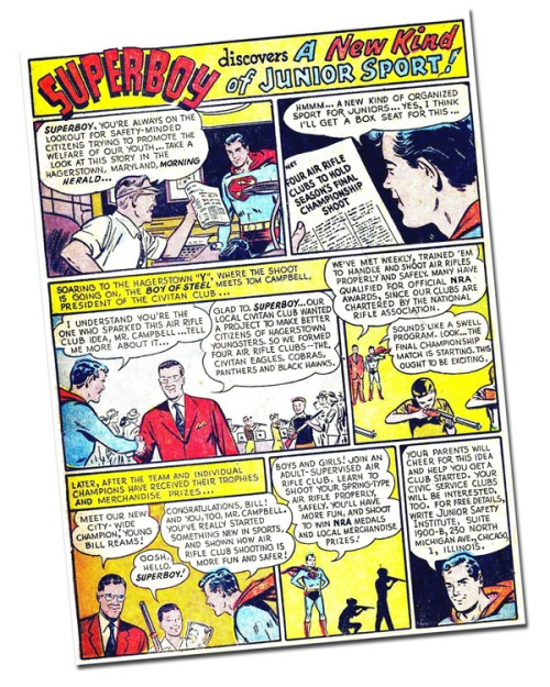 Superboy was willing to endorse the NRA back in the Sixties, but that was before skin-piercing Kryptonite bullets