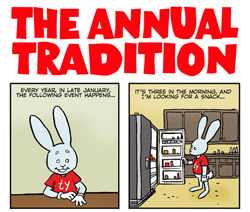 For last week's equally moronic Bun Toon, click the moron rabbit.