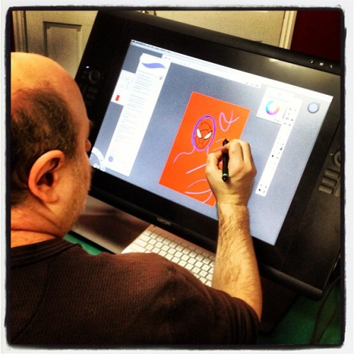 Ty tries out Sketchbook Pro 6 (photo by Tyrone McCarthy)