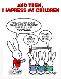 For last week's Bun Toon,  click the plump, fully rendered family of rabbits above. (PS:  It involves a free cartoon I wrote!!!)