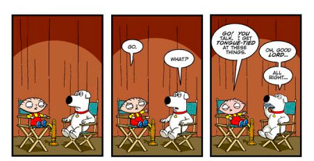 For last week's FAMILY GUY themed Bun Toon, click Brian or Stewie above