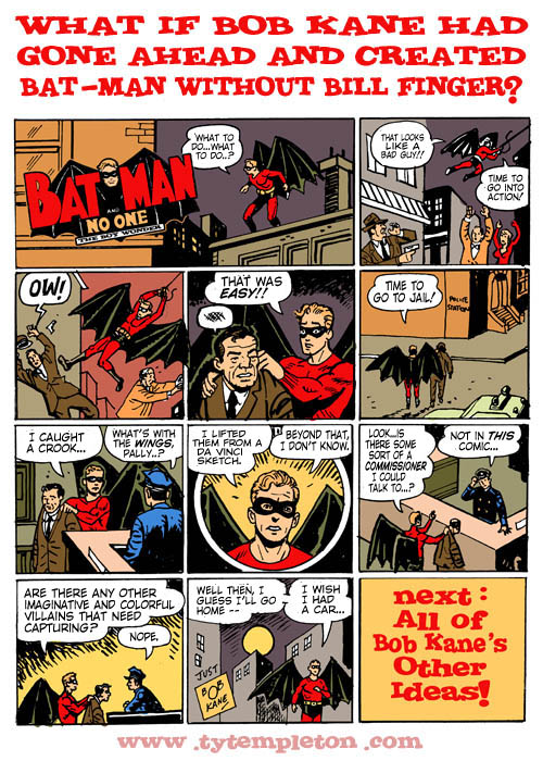 BATMAN WITHOUT BILL lettered