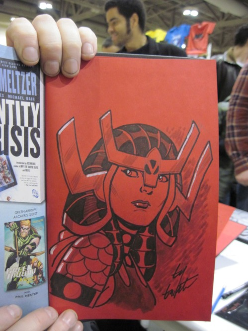 It's always a good day when I get to sketch Big Barda at a convention...