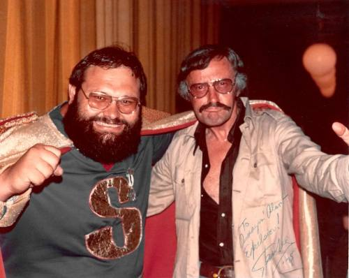 1975, the amazing Captain Sticky with someone similarly tactile.