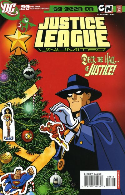 Because it's the Phantom Stranger, it's possible those decorations are the living souls of the Justice League.  AAAAAHHHH!!