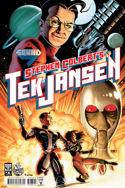 Creator of Tek Jansen and Alpha Force Seven. Stephen Colbert, is also retiring this week.  Though Tek Jansen wasn't a top selling series, there was a lot to recommend it, and I doubt that Mr. Colbert will stay retired long.