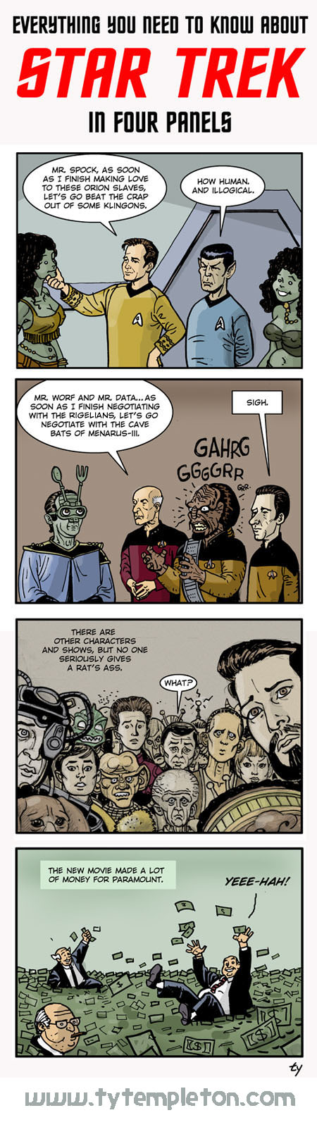 trek in four panels