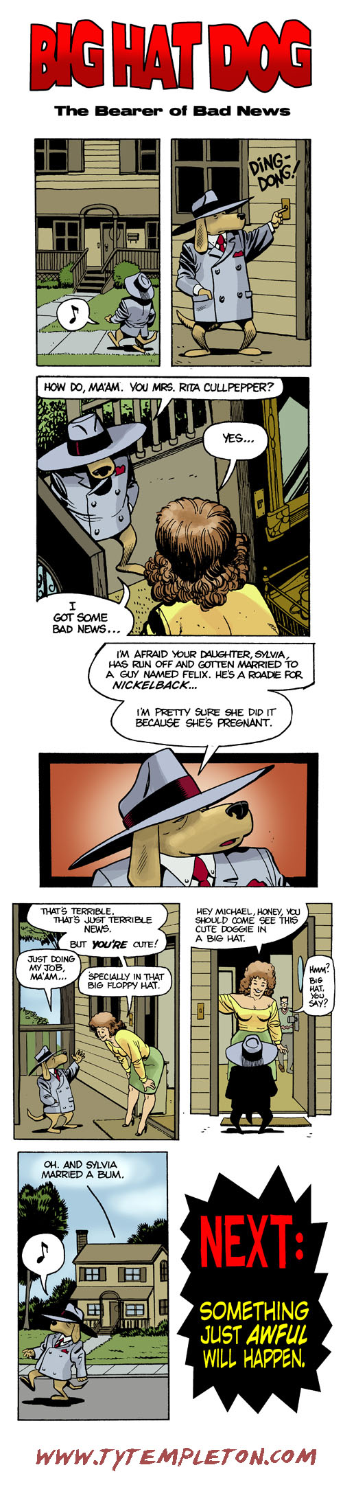 big hat dog
