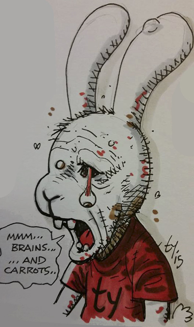 zombie rabbit con sketch