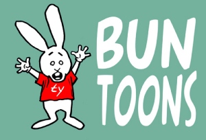 bunny worried logo green