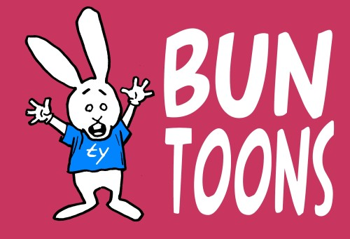 00 bunny red blue toon