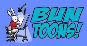 desk bunny blue