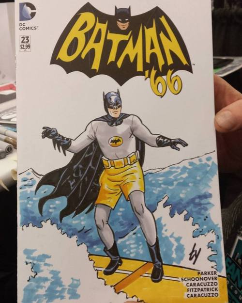 surfing batman
