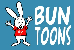 00 bunny waving blue